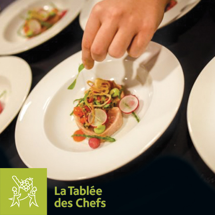 Plats cuisiné par la tablée des chefs