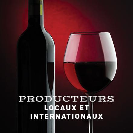 Producteurs de vins locaux et internationaux